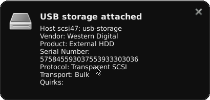 monitor usb storage