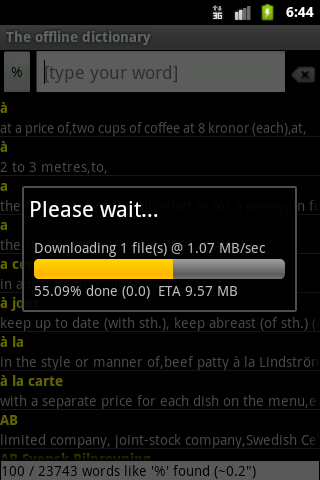 offline Android multi-language dictionary