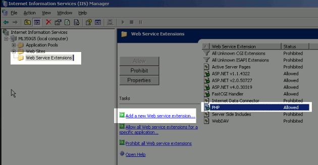 installing wordpress on iis 6