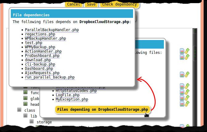 PHP file dependencies tree